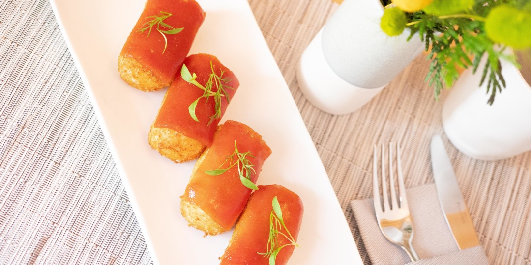 Croquetes Fondue: de formatge de cabra i mel amb codony de guayaba (1u)