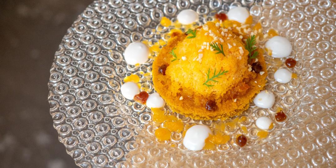 VitaMint: carrot cake, cremós de coco, kakigori de pastanaga i cítrics